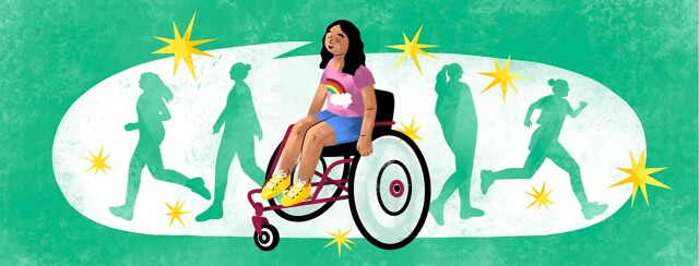 alt=a girl in a wheelchair declares she will walk when she becomes an adult